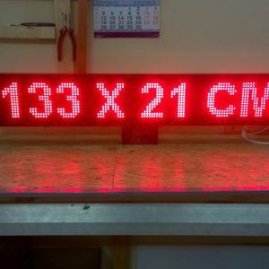 led вывеска 133 х 21 см