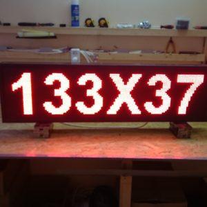 led полотно 133Х37 см