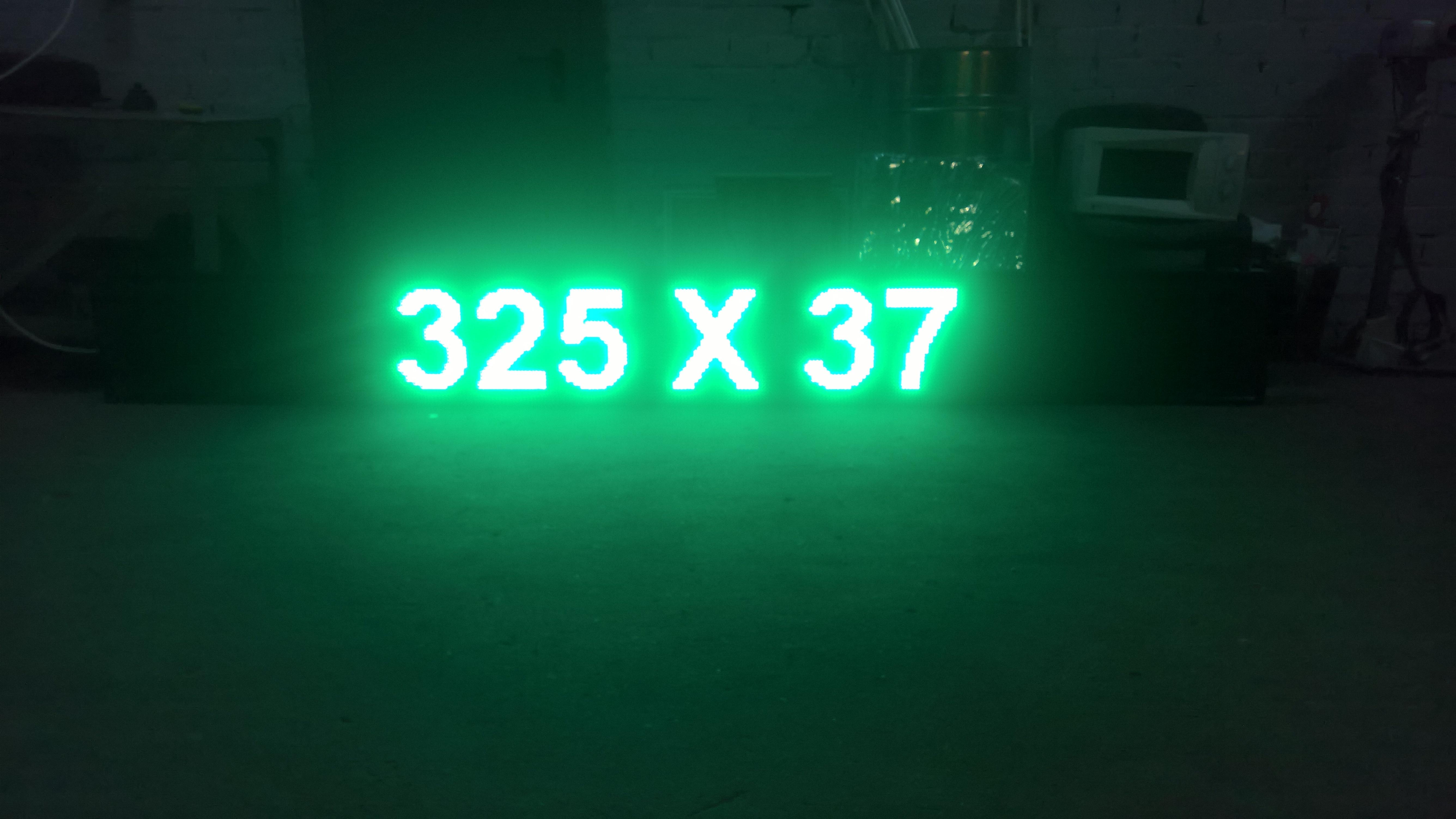 led вывеска строка 325 x 37 зеленая