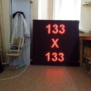 светодиодный экарн бегущая строка 133 x 133 красный